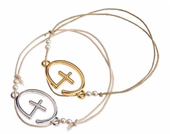 Cross Orthodox Baptism Witness Bracelet w Beads