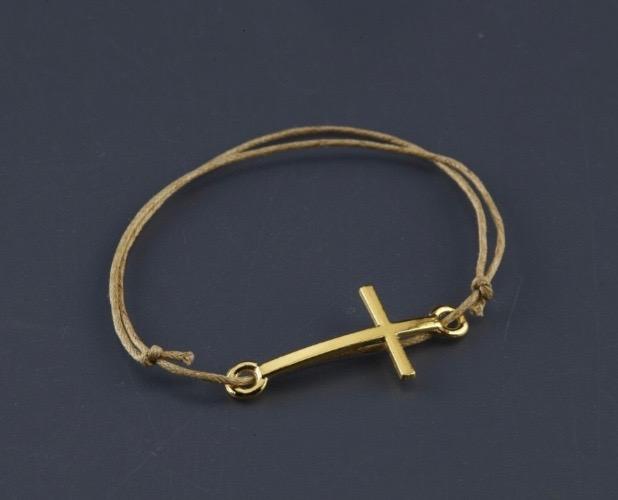 Gold Cross Orthodox Baptism Witness Bracelet
