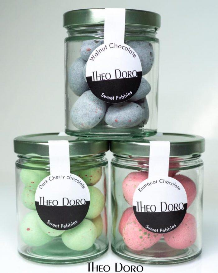 Surar Dragees Sweet Pebbles Walnut, Dark Cherry Kumquat Chocolate