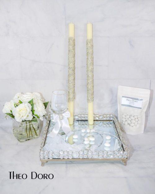 Orthodox Wedding Candle Swarovski Crystals