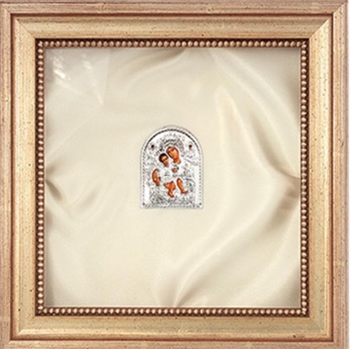 Wedding Crowns (Stefana) Silver & Wood Shadow Box