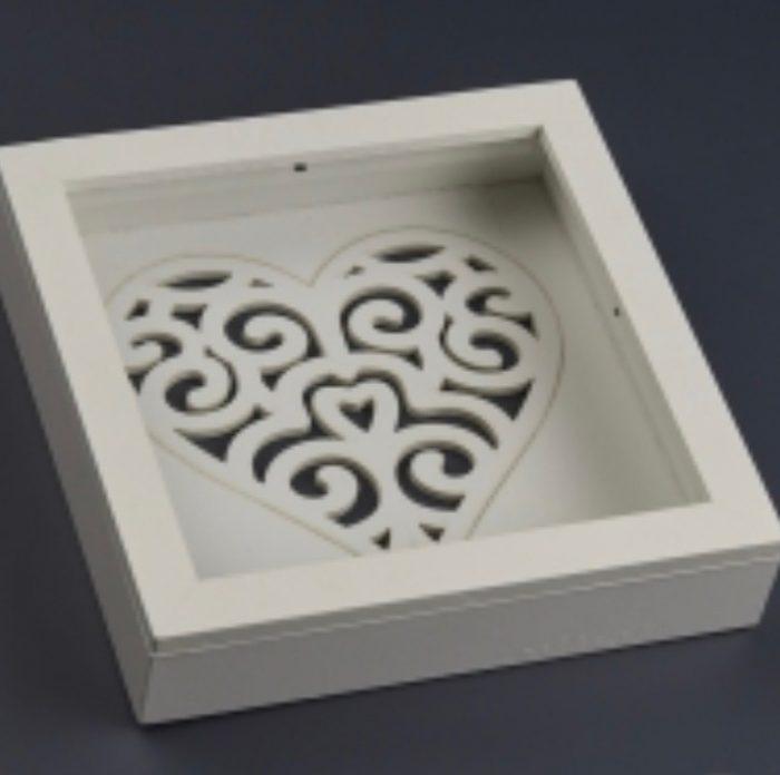 Wedding Crowns (Stefana) Small White Shadow Box