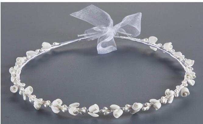 Orthodox Wedding Crowns, Stefana (White Floral)