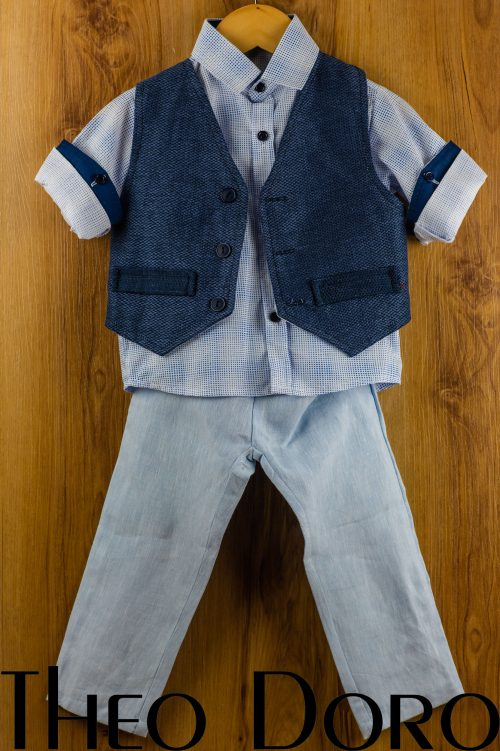 Baby Boy Navy Blue Baptismal Set