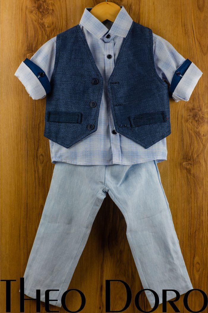 Baby Boy Navy Blue Baptismal Set