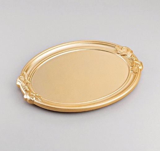 Wooden Gold Wedding Tray