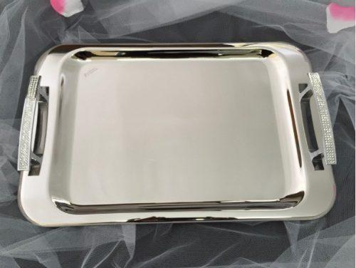 Silver Wedding Tray with Swarovski