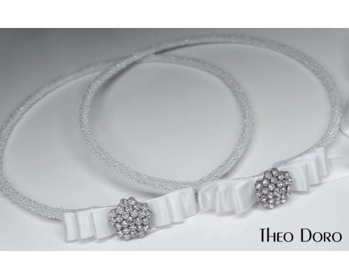 Orthodox Wedding Crowns, Stefana (White Pearl)