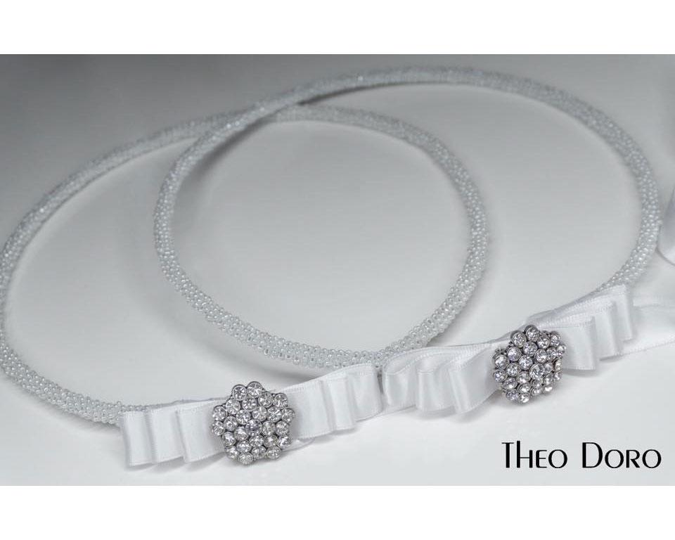Orthodox Wedding Crowns, Stefana (White Pearl)