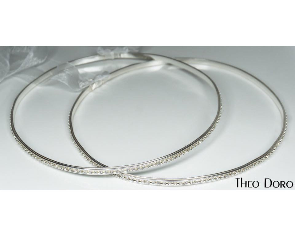 Orthodox Swarovski Wedding Crowns, Stefana Silver with Crystals