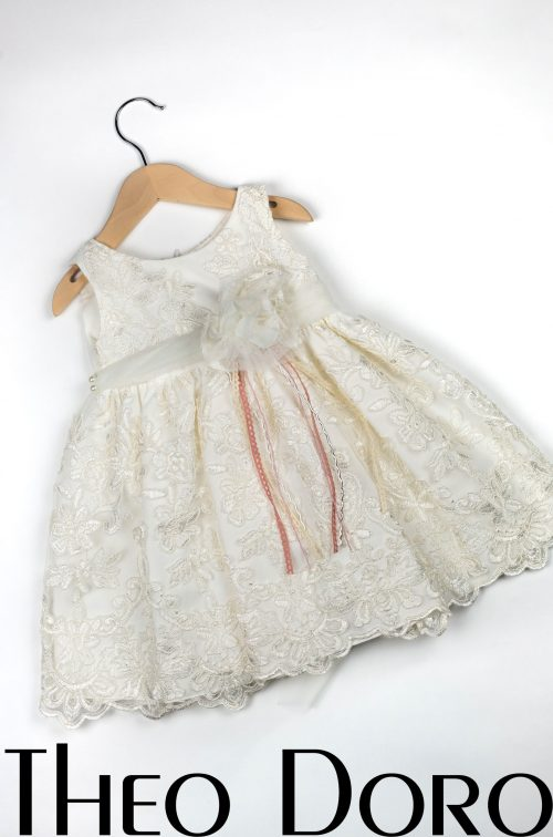 Baby Girl White Floral Baptismal Dress