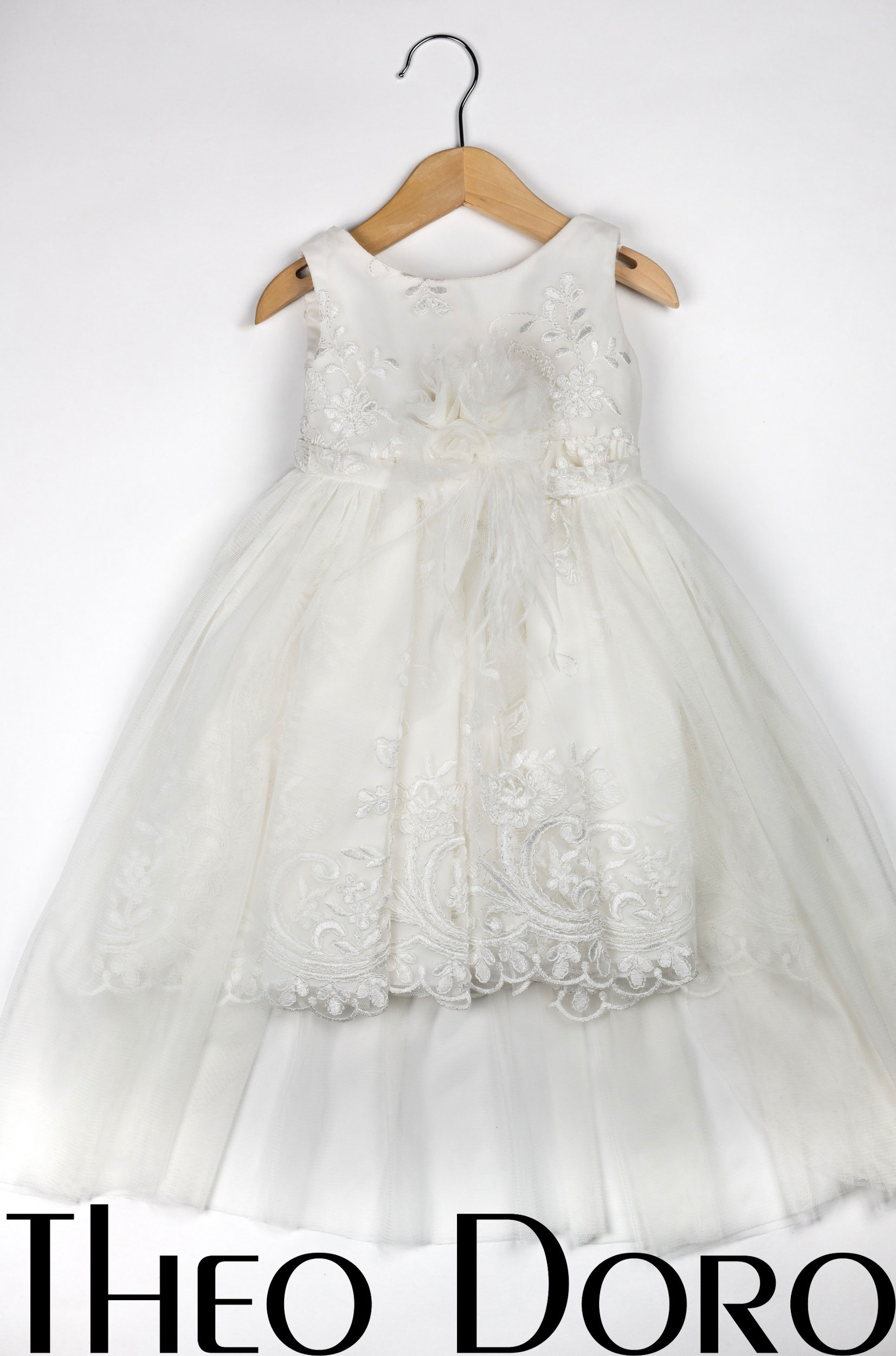 Baby Girl White Stunning Lace Floral Baptismal Dress